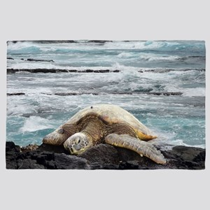 Hawaiian Honu - Sea Turtle 4' x 6' Rug