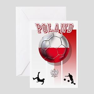Poland Football Soccer Greeting Cards