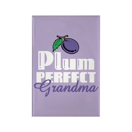 Plum Perfect Grandma Rectangle Magnet