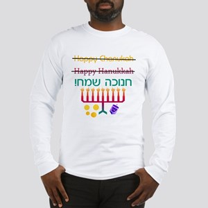 How to Spell Happy Chanukah Long Sleeve T-Shirt