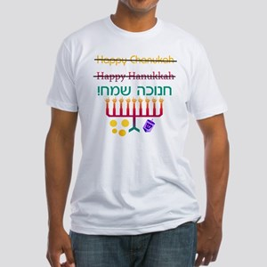 How to Spell Happy Chanukah Fitted T-Shirt