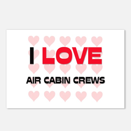 I LOVE AIR CABIN CREWS Postcards (Package of 8)
