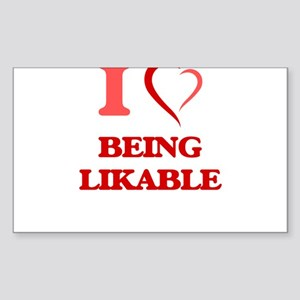I Love Being Likable Sticker