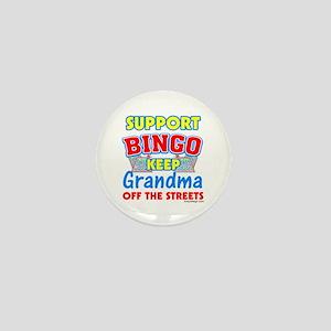 Support Bingo Grandma Mini Button
