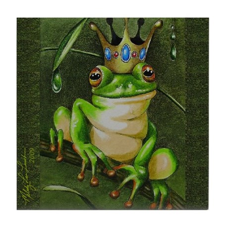 Frog Prince Three Tile Coaster