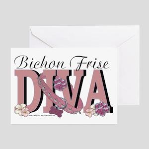 Bichon Frise Diva Greeting Card