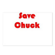 Save Chuck Postcards (Package of 8)