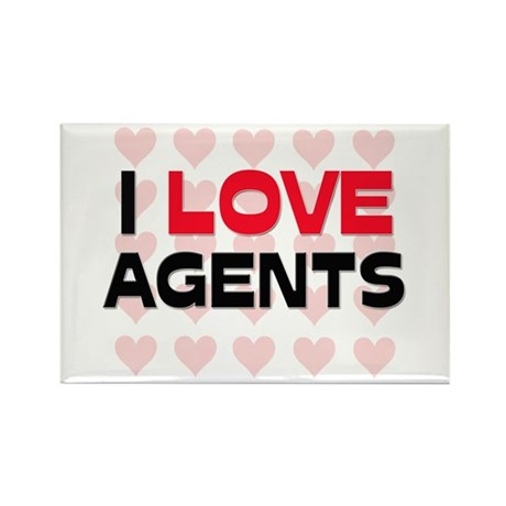 I LOVE AGENTS Rectangle Magnet