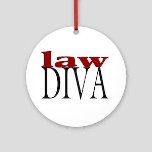 Law Diva Ornament (Round)