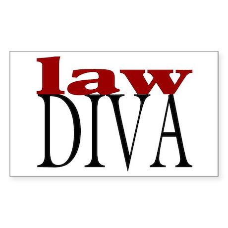 Law Diva Rectangle Sticker