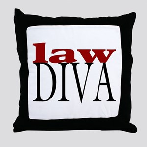 Law Diva Throw Pillow