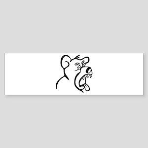 Scream Bear Bumper Sticker