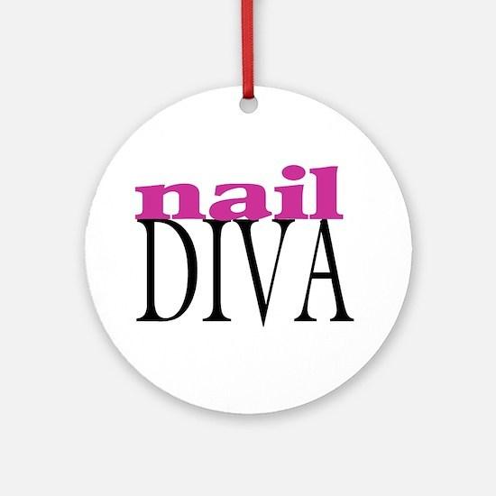 Nail Diva Ornament (Round)