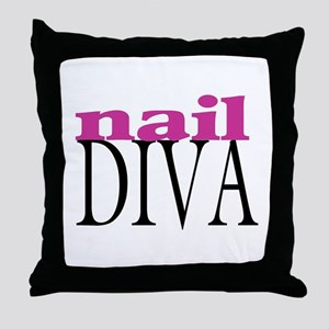 Nail Diva Throw Pillow