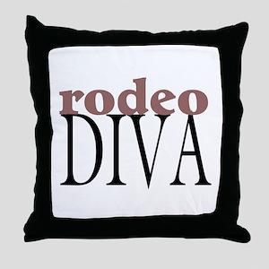 Rodeo Diva Throw Pillow
