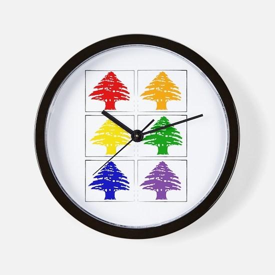 Rainbow Cedar Tree Wall Clock