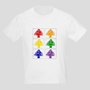 Rainbow Cedar Tree Kids T-Shirt