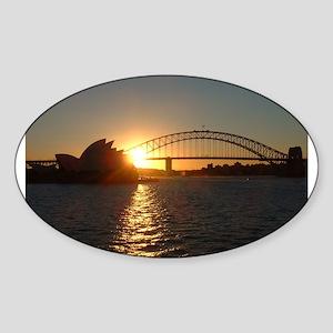 Sydney Sunset Oval Sticker