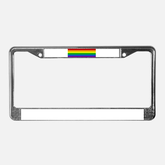 Rainbow License Plate Frame