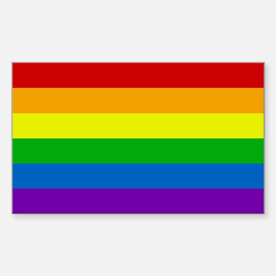 Rainbow Rectangle Decal