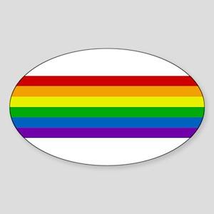 Rainbow Oval Sticker