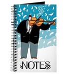 Funny Violin Music Notebook Journal