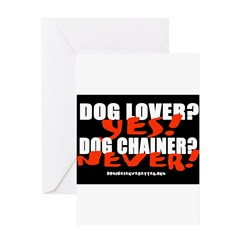Dog Lover? Yes. Dog Chainer? Greeting Card