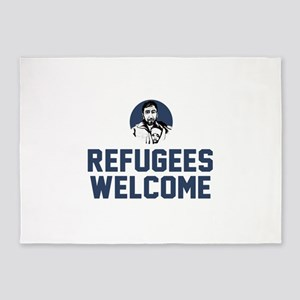 Refugees Welcome 5'x7'Area Rug