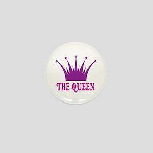 The Queen: Crown Mini Button