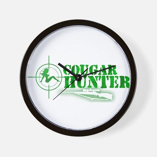 Cougar Hunter Wall Clock