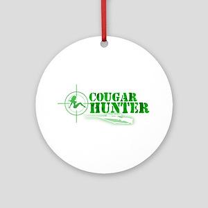 Cougar Hunter Ornament (Round)