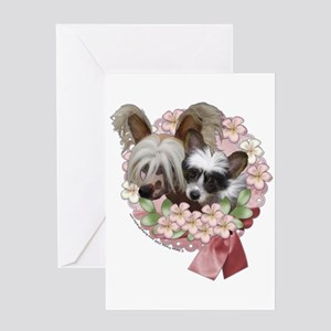Jasper & Tickles Chinese Crested Greeting Card