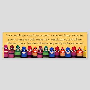 Peaceful Crayons Bumper Sticker