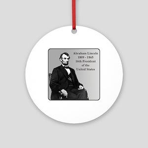 Lincoln Ornament (Round)