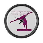 Gymnastics Large Wall Clock - Champ