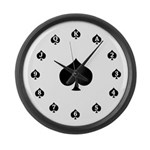 Poker Spades Large Wall Clock
