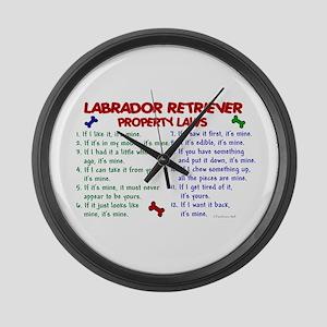 Labrador Retriever Property Laws 2 Wall Clock