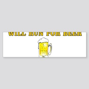 Will Run For Beer Bumper Sticker