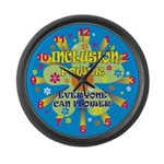 Inclusion Power Large Wall Clock