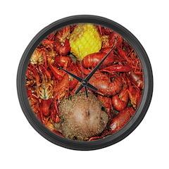 Crawfish Large Wall Clock