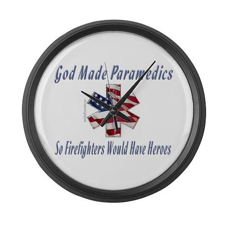 God Made Paramedics Large Wall Clock