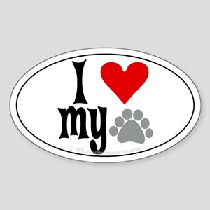 love Hemingway cat Oval Sticker