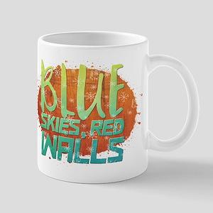 Blue skies, Red Walls Mugs