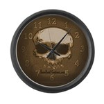 Bone Head Large Wall Clock