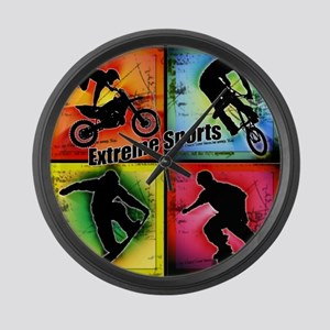 Extreme Sports Large Wall Clock