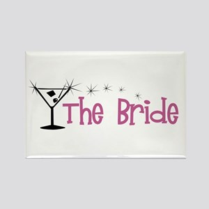 Pink Bride Martini Rectangle Magnet