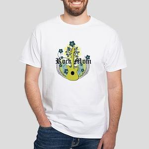 Rock Mom White T-Shirt