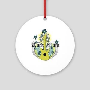 Rock Mom Ornament (Round)