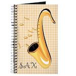 Saxophone Music Instrument Practice Notebook