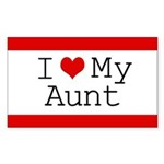 I Heart My Aunt Rectangle Sticker 10 pk)